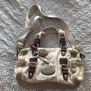 Beautiful canvas Fossil bag - excellent condition!